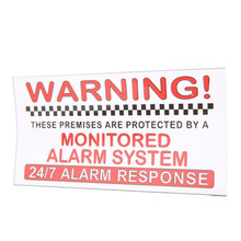 5Pcs Alarm System Monitored External Sign Notice Warning Security Sticker for Camera Video Security Sticker Alarm(China)