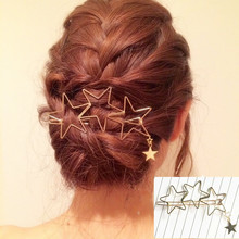 FAMSHIN 2017 new lady popular hollow star tassel hairpin hairpin hair high quality hair ornaments(China)