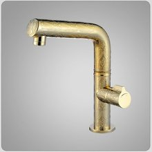 Free shipping !Gold color Ceramic cartridge single handle brass bathroom sink faucet.heighten basin mixer faucets.size:M