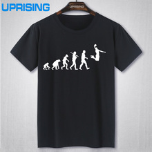 EVOLUTION Basketballs T-shirt Slam Dunk Imprime T Shirts Hommes Manches Courtes O-cou Coton Hommes Fahion T-shirt Tops(China)
