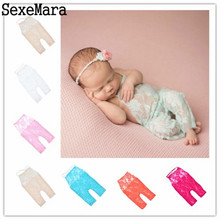 Lace Romper Newborn Photography Props Accessories For Infant Boys Girls Photography Props Clothes Baby Photo Props for New Born