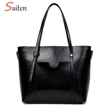 Saiten Women's large capacity red totes bag casual famous brands ladies crossbody bags high quality luxury leather PU bags bolsa