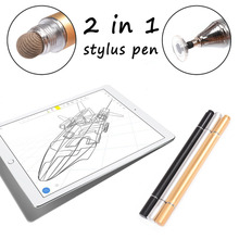 2 in 1 Multifunctional Fine Point Touch Stylus Pen Capacitive Touch Screen Pen Round Thin Tip For Smart Phone iPad Tablet iphone