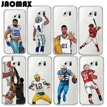 Baseball Sport Player Soccer Football Case For Samsung Galaxy S7 S6 S5 S4 S3 Edge S8 Plus Silicone Transparent TPU Phone Cover
