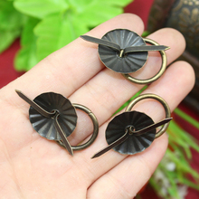 "50pcs 19mm Vintage metal tin box decorated handle Mini Drawer Door ring pulls 0.74"" Iron Jewelry Storage Wooden Box Case Handle"