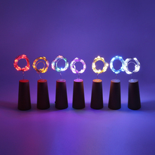 5Pcs/lot 2M 20 LED Wine Bottle Cork String Lights Battery Powered lights for Christmas,Bottle DIY,Wedding,Party Decoration