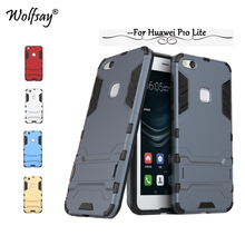 Wolfsay Case Huawei P10 Lite Cover Slim Robot Armor Kickstand Rubber Case For Huawei P10 Lite Case For Huawei Nova Lite Fundas!<(China)