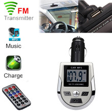 High Quality     LCD Car MP3 MP4 Player Wireless FM Transmitter Modulator SD/ MMC Card w/ Remote