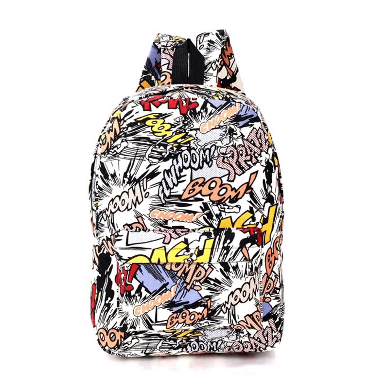 High quality harajuku graffiti backpack women backbag hip hop students canvas backpacks for teenage girls school bag <br><br>Aliexpress