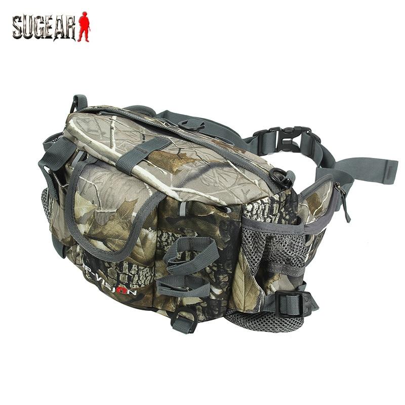 Outdoor Multifunctional Single Shoulder Bionic Camouflage Waist Bag Sports Fishing Bags Multifunctional Trekking Waist Pouch<br>