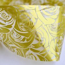 100cmx4cm NEW Foils Polish Designs Yellow Rose Beauty Stickers Nail Art Decals for Salon Express Adhesive Manicure STZXK20(China)