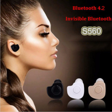 Mini Style Wireless Bluetooth Earphone S560 V4.1 Stealth Earphone Phone Headset Handfree Universal for All Phone PC MAC IPAD