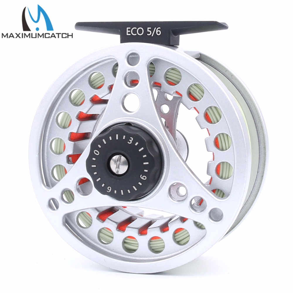Maximumcatch 5/6WT Fly Reel Large Arbor Aluminum Pre-spooled Fly Fishing Reel with WF5F Floating Fly Line Backing Line Leader<br><br>Aliexpress