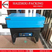 HZPK Air Injection Vertical Automatic Jet Heat Shrink Machine PVC POF Film Shrink Packing Machine For Bottle Carton Sealer 45*25(China)