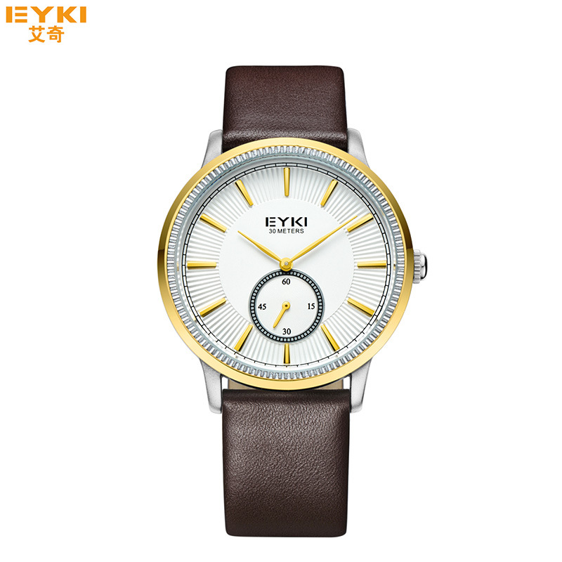 2017 New EYKI Analog Quartz Watch for Men Women Genuine Leather Strap Wristwatches Luxury Calendar Wrist Watches Horloge Clock<br><br>Aliexpress