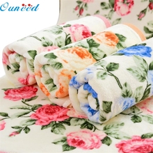 Ouneed Lovely pet  34*75cm Soft Cotton Face Flower Towel Bamboo Fiber Quick Dry Towels Sep929