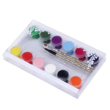 Buy Brand NEW 1 SET 12 Colors Painting Acrylic 3D DIY Nail Art Paint Tube Draw Nail Art Tip UV Gel Nail Polish Nail Design Pretty for $4.89 in AliExpress store