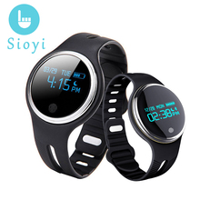 SIOYI E07 Smart Wristband 2017 Women Men Smart Band Passometer Fitness Tracker Bluetooth Bracelet For Iphone Android Xiaomi(China)