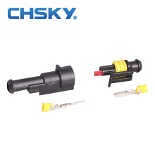 CHSKY 2 pieces 1 pin wire auto connector plug set sealed Waterproof hid Connector model DJ7011-1.5 Modified car connector 1 pin