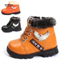 Koovan Clearance Sale 2017 Warm Winter Snow Boots Boys Girls Snow Boost Shoes Baby Shoes Toddler Ankle Children's Kids Stock(China)