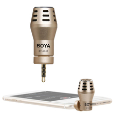 BOYA BY-A100 Omni Directional Condenser Phone Microphone for iPhone 6/6S/5/5S iPad iPod Android Samsung S6 S5 S4 HTC(China)