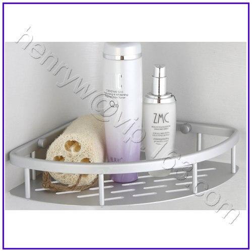 Retail - Luxury Aluminium Bathroom Shelves, Shampoo &amp; Soap Holder, Wall Mounted at Corner,L15527<br><br>Aliexpress