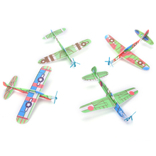 New 12Pcs Boy's Gift DIY Assembly Flapping Wing Flight For Children Flying Kite Paper Airplane Model Imitate Birds Aircraft Toys(China)