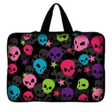 "7 10 11.6 13 13.3 14.4 15.6 17"" Skull Laptop Sleeve Bag Neoprene Notebook PC Bags Tablet Case For macbook Air/Pro/Retina(China)"