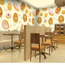 wallpaper 3d Personality bakery wallpaper dessert tea shop fast food restaurant large mural 3D stereo cake room wallpaper