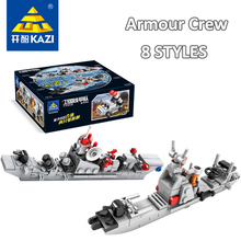 2017 New KAZI Building Blocks Military Armored Plastic Assemble Bricks Army Toys Children Hobby Compatible with lego