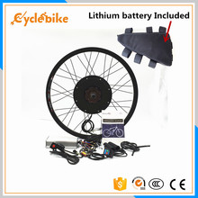 Front or rear motor 65km/h 48v 1500w E bike kit 1500w Electric bike conversion kit with Lithium battery pack(China)