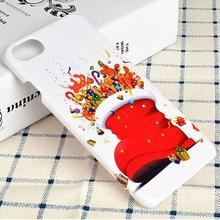 Christmas Socks Phone Case Hard Plastic Mobile Cover for iPhone 7 Plus 6S 6 5S 5 SE Samsung Galaxy S7 edge Xmas Tree Santa Coque