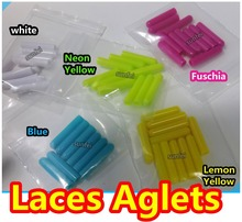 125sets(500pcs )/lot~ Plastic Aglets~Laces Aglets~Lace Tips~Shoelace Charm~Mixed Colors~Shoelaces Accessories, DHL FREE SHIPPING