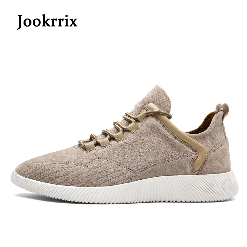 Jookrrix 2018 New Spring Fashion Brand Leisure Shoes Men Sneaker Shoe Real Leather Breathable Lace Up Youth Male Casual Shoe<br>