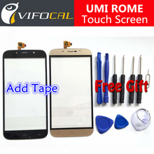 Umi Rome touch screen + Tools Set Gift 100% Original Digitizer glass panel Assembly Replacement for cell phone