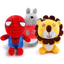 Cute pet dog chew Sound squeakers squeaky Toy for smal dog lion totoro spiderman plush training toy for chihuahua dog supplier(China)