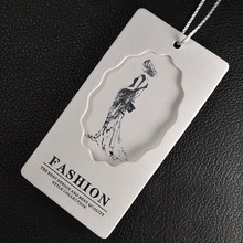 Custom Grade A Coated paper price tags clothing Artwork print swing Hang tag new design 45 mm * 85 mm(China)