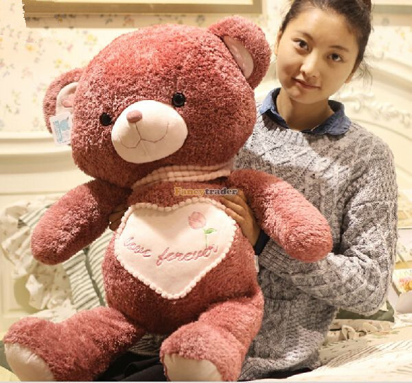 Fancytrader 31 / 80cm Super Soft Plush Lovely Giant Stuffed Rose Color Teddy Bear, Nice Gift for Babies, Free Shipping FT50470<br><br>Aliexpress