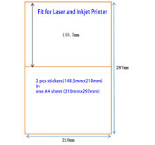 200 Half Sheet 210mm X 148.5mm A5 Sticker Shipping Label For Laser and Inkjet Printers Ebay Paypal USPS UPS Labels(China)
