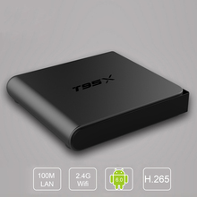 T95X Smart Android TV Box Amlogic S905X Quad Core 4K*2K 2.4G WiFi KODI 16.1 Android 6.0 Set Top Box 2G RAM 8G ROM(China)
