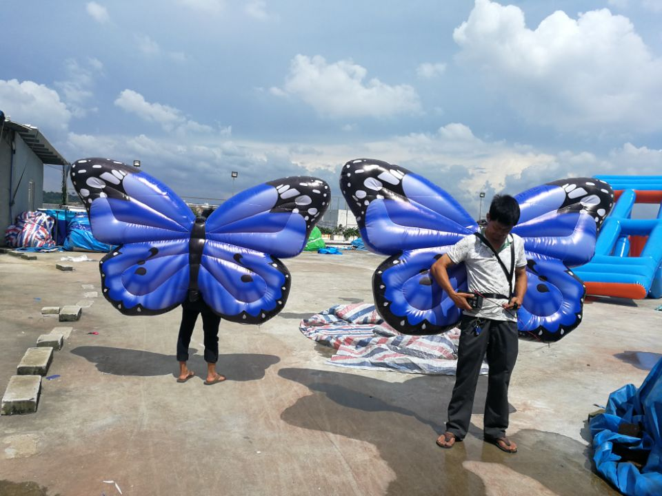blue inflatable butterfly (2)