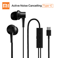 Newest Xiaomi ANC Type-C Earphone Active Noise Cancelling with Mic & Remote USB-C Hybrid for Xiaomi Mi6 MIX Note2 Mi5s Plus Mi5