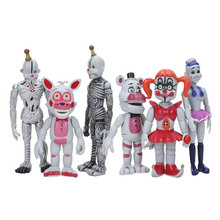 6pcs/set FNAF Figure Five Nights At Freddy's Sister Location Funtime Foxy Freddy bear Ballora Ennard Springtrap Action Figure