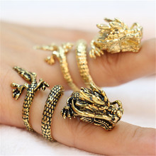 Fashion Chinese dragon rings, Gold-color dragon rings for women wholesale free shipping