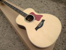 Factory Custom 814 classic acoustic guitar,Solid Spruce top acoustic guitar,Top quality Left hand Guitar,Free shipping(China)