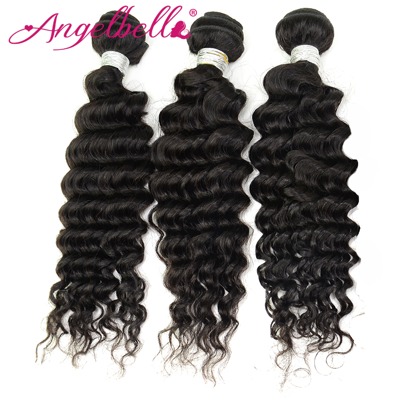 Angelbella 100 Human Hair Double Drown Remy Deep Wave Bundles Thick Cuticle Weft To End Cheap Malaysia Deep Wave Hair 3 Bundles<br><br>Aliexpress