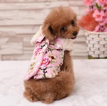 Buy 2016 new pet dog cat fashion floral jacket clothes doggy warm soft overcoat puppy outwear dogs cats hoodies clothing 1pcs for $8.37 in AliExpress store