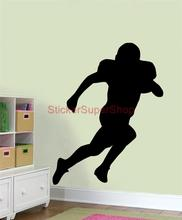 D0110 AMERICAN FOOTBALL silhouette Decal Personalised Name WALL STICKER Decor Art(China)