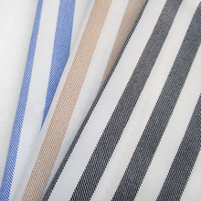 2yards/lot Fashion Old-school Stripe Print Chiffon Fabric Summer Uniform Blouse Casual Clothes French Shirt Sewing Cloth tissu(China)