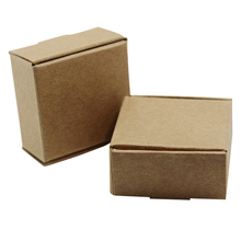 Wholesale 4*4*2cm 50Pcs/ Lot Small Party Gift Kraft Paper Package Box For Birthday Wedding Anniversary Soap Mini Cardboard Boxes